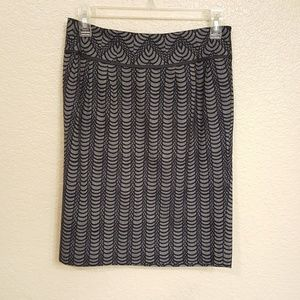 Club Monaco Gray & Black pencil skirt